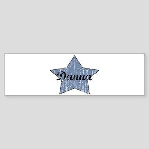 Danna (blue star) Bumper Sticker