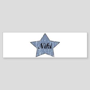 Niki (blue star) Bumper Sticker