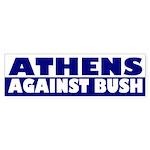 Athens Against Bush (bumper sticker)