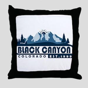 Black Canyon of the Gunnison - Colora Throw Pillow
