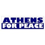 Athens for Peace (bumper sticker)