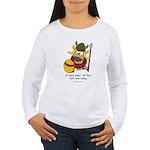 fat cow sings Women's Long Sleeve T-Shirt