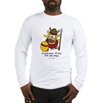 fat cow sings Long Sleeve T-Shirt