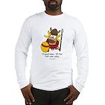 fat cow sings Long Sleeve T-Shirt
