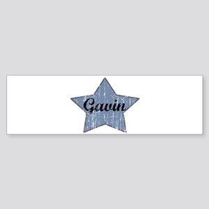 Gavin (blue star) Bumper Sticker