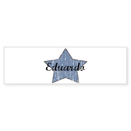 Eduardo (blue star) Bumper Sticker