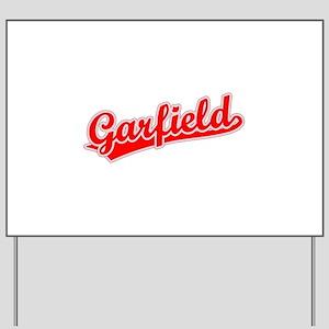 Retro Garfield (Red) Yard Sign