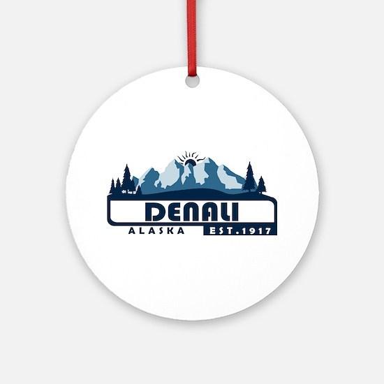 Denali - Alaska Round Ornament