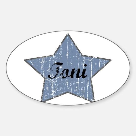 Toni (blue star) Oval Decal