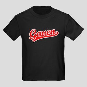 Retro Gaven (Red) Kids Dark T-Shirt