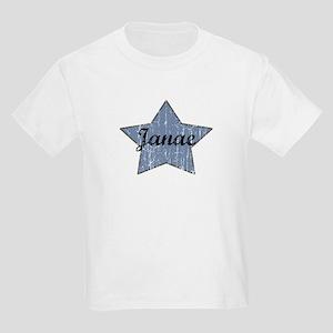 Janae (blue star) Kids Light T-Shirt