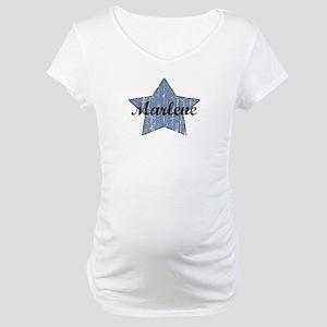 Marlene (blue star) Maternity T-Shirt