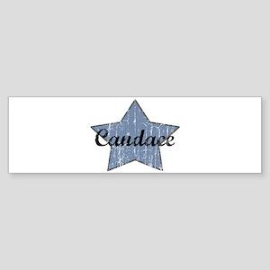 Candace (blue star) Bumper Sticker
