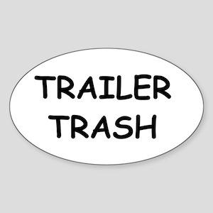 TRAILER TRASH Oval Sticker