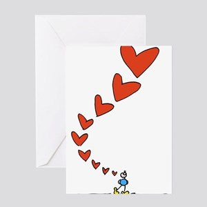 Thinking of Love Greeting Cards