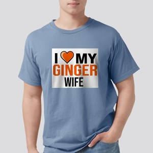 I LOVE MY GINGER WIFE WOMAN GIRL FUNNY GIR T-Shirt