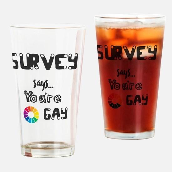 Cool Colorwheel Drinking Glass
