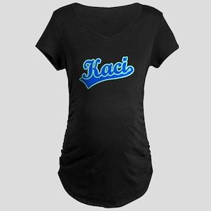 Retro Kaci (Blue) Maternity Dark T-Shirt
