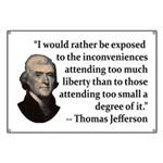 Thomas Jefferson on Liberty Banner