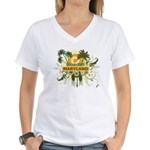 Palm Tree Maryland Women's V-Neck T-Shirt