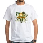 Palm Tree Maryland White T-Shirt