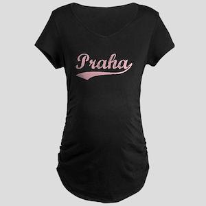 Vintage Praha (Pink) Maternity Dark T-Shirt