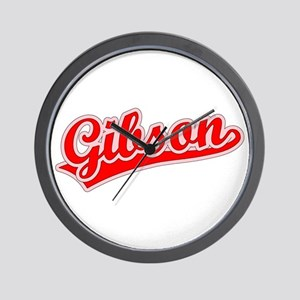Retro Gibson (Red) Wall Clock