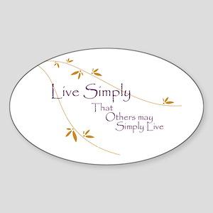 Live Simply Oval Sticker