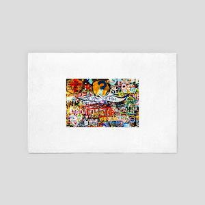 All Love is Free Graffiti 4' x 6' Rug