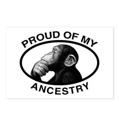 Proud of my Ancestry Chimp Postcards (Package of 8