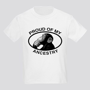 Proud of my Ancestry Chimp Kids Light T-Shirt