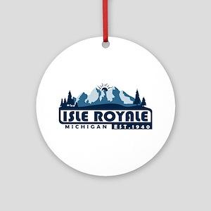 Isle Royale - Michigan Round Ornament