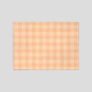 Pastel Melon Tartan Pattern 5'x7'Area Rug