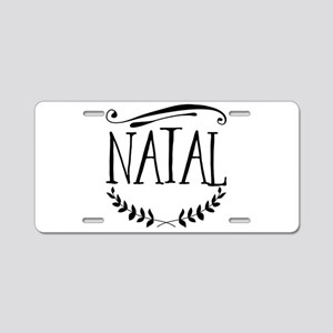 Natal Aluminum License Plate