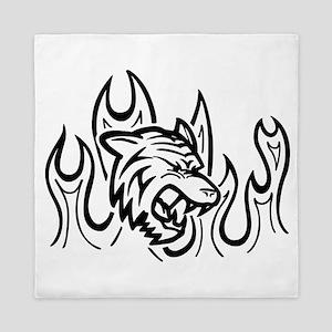 Fire Tiger Queen Duvet