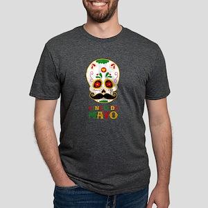 Cinco De Mayo Skull Mens Tri-blend T-Shirt
