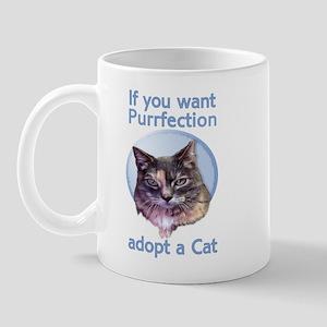 adopt Purrfection Mug