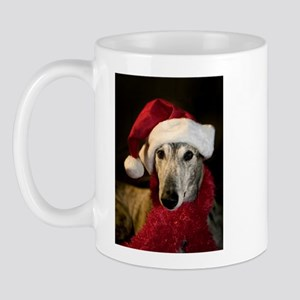 Santa Greyhound Mug