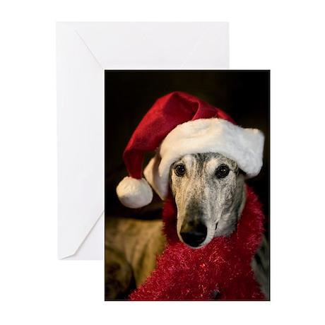 Santa Greyhound Greeting Cards (Pk of 20)