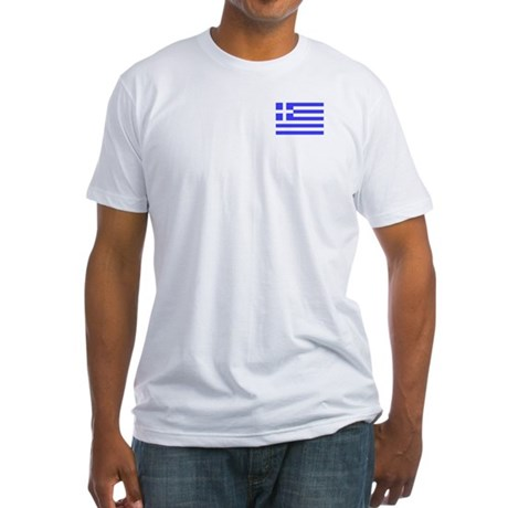 Flag of Greece 3 Fitted T-Shirt