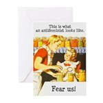 This is what an antifeminist Greeting Cards (Pk of