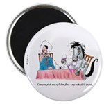 The Grapes of Laugh wine Magnet