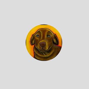 Chocolate Labrador Retriever Mini Button