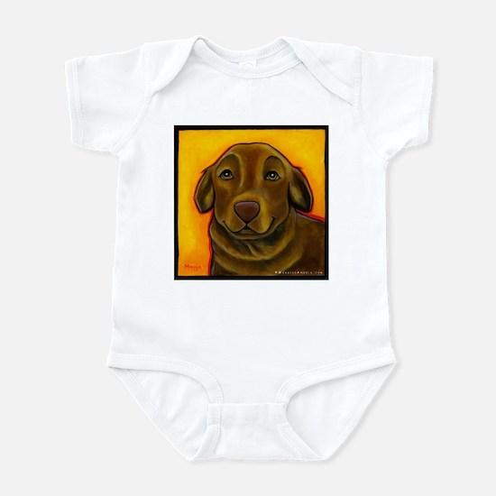 Chocolate Labrador Retriever Infant Bodysuit