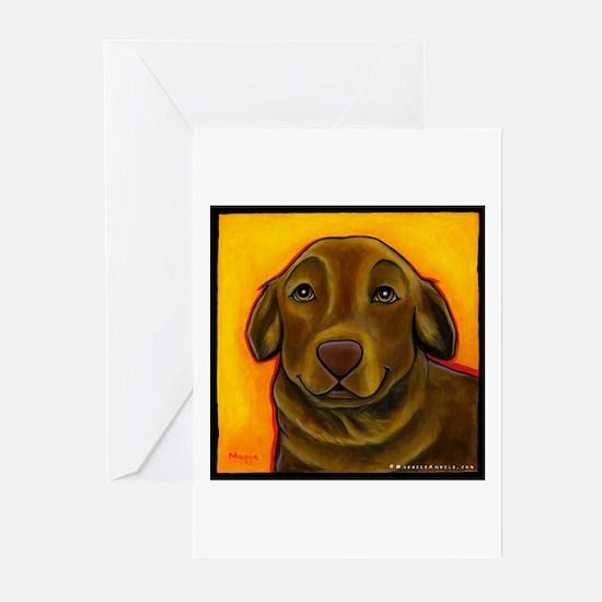 Chocolate Labrador Retriever Greeting Cards (Pk of