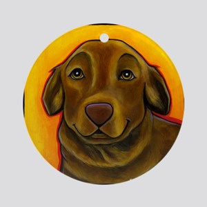 Chocolate Labrador Retriever Ornament (Round)