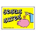 Jesus Saves Religious Silly Banner
