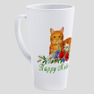 Mother's Day Orange Cat 17 oz Latte Mug