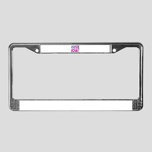 working together License Plate Frame