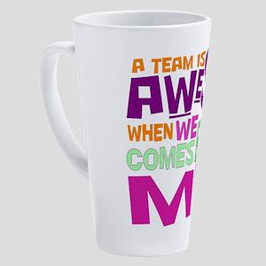Teamwork 17 oz Latte Mug